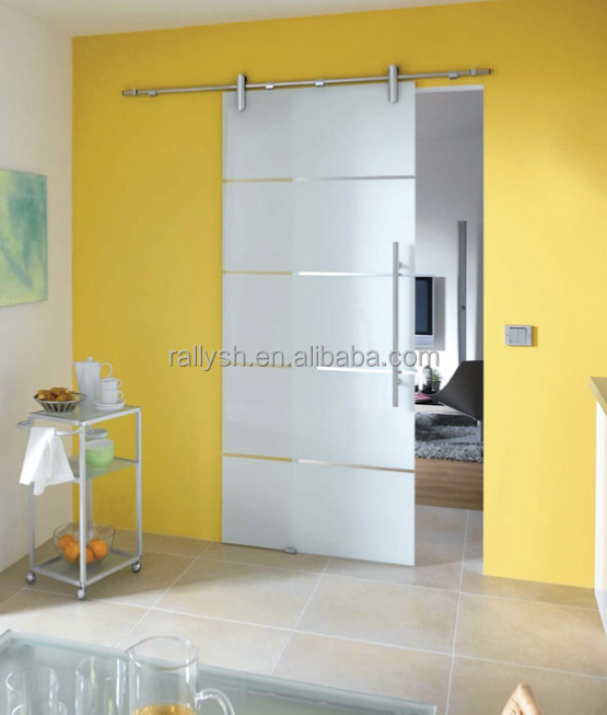 Frameless Glass wall mounted sliding door hardware system (YM-07 series)