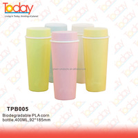 ECOZONE Self-design new items Non-toxic environmental plastic frosted PLA corn plastic biodegradable bottle
