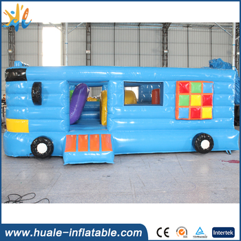 Newest inflatable School bus /inflatable bouncer car with jumper/inflatable bouncer bus