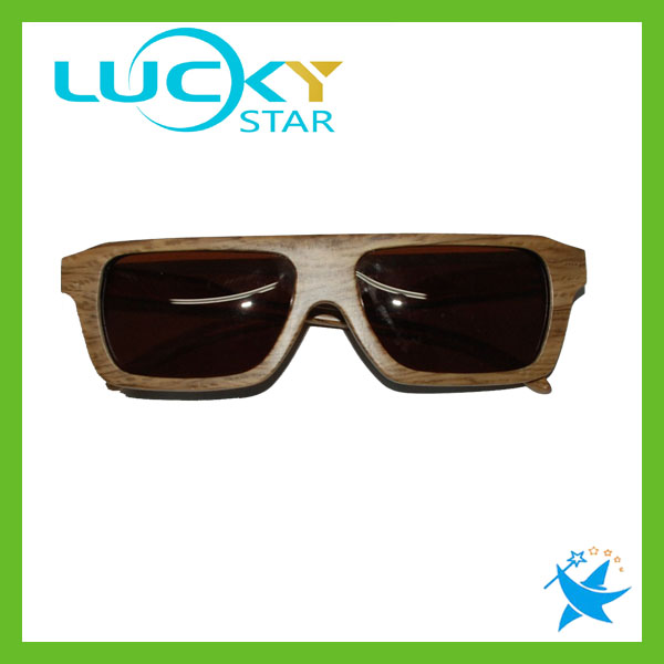 Wooden designer unisex sunglasses advertising gift sunglasses metal hinge wood sunnies