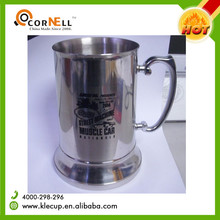 double wall 400ml 500ml coffee mug promotional trumpet shape 304 stainless steel tumbler coffee mug with client's logo