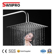 SANIPRO square 304 stainless steel rain shower head