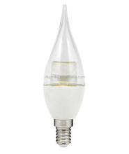 Clear lens candle lamp E14 5W flame style candle shape