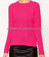 Women's side slit knit sweater