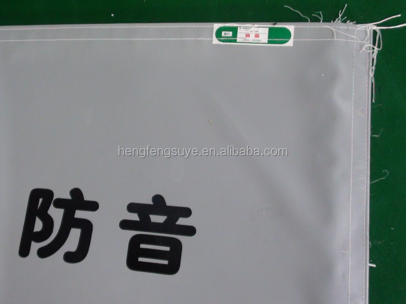 Polyester PVC Laminated Soundproof Fabric For Constrct Building In Japan