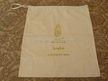Nice drawstring canvas disposable hotel laundry bags