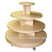 Wholesale OEM retail store 4-tier wooden shoe display table