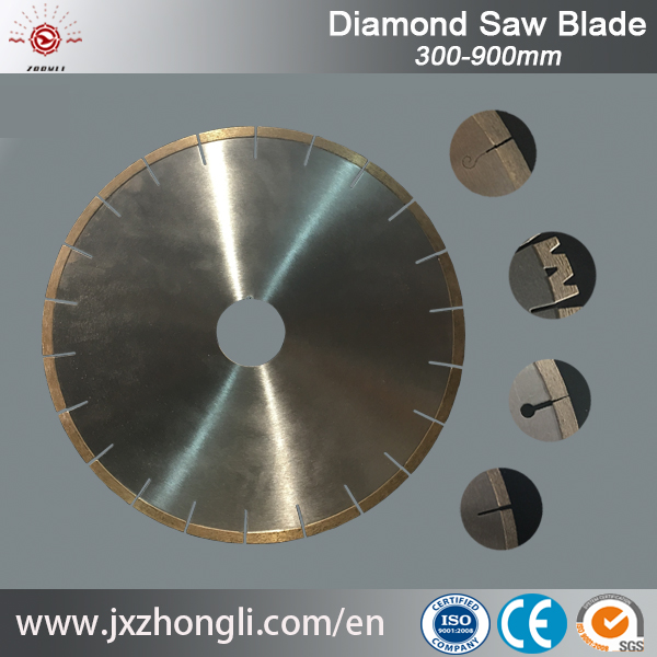 300mm to 800mm diameter high frequency and laser welding diamond circular saw blade for marble and granite slab cutting