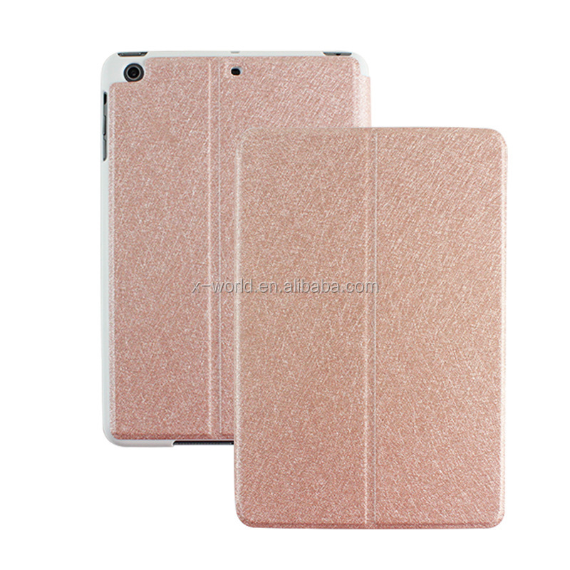 Slim design PU leather case for ipad mini4, stand holder case