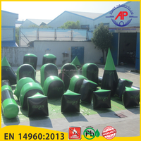Airpark 0.6mm or 0.9mm PVC Tarpaulin Inflatable Paintball Bunkers For Sale
