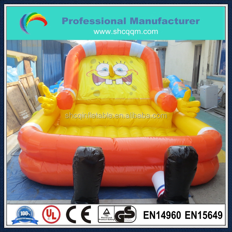 cheap inflatable spongebob air bed for sale,spongebob inflatable bouncer