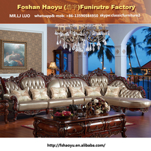 2015 new design antique classic corner sofa DWL-1358