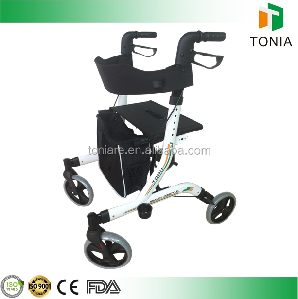 Used Convenience Walking Rehabilitation Equipment Folding Rollator Walker for disabled