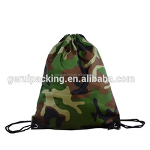 army green strong promotional polyester drawstring bag