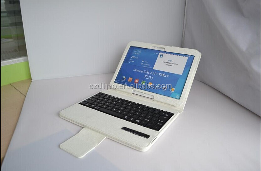 DIHAO Leather Stand Case Cover Bluetooth ABS keyboard for Samsung Galaxy Tab 4 10.1 Inch Tablet