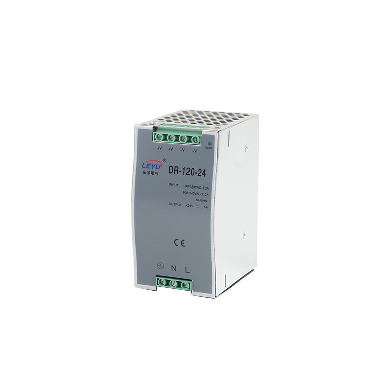 Din Rail switching power supply DR-100-24 for led light strip with on/ off switch power