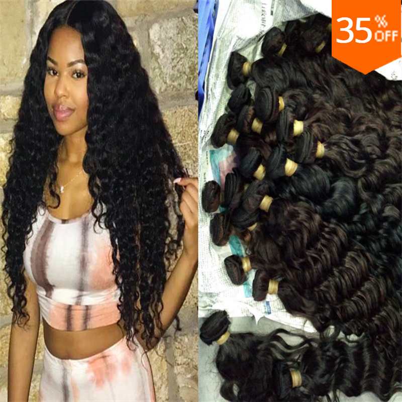 Cheap price hair wholesale unprocessed brazilian virgin hair deep jazz wave loose jerry curly natural human hair weave extension
