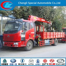 FAW 4X2 8ton 180hp heavy duty truck with crane