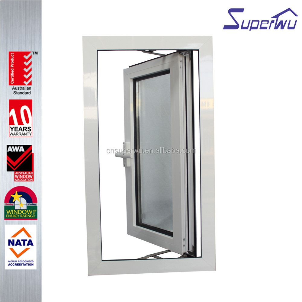Superwu single opening aluminum frame casement window with high quality insulated glass swing windows