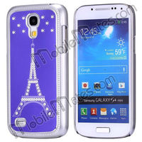Newest Diamond Eiffel Tower Aluminium Hard Cover Case for Samsung Galaxy S4 Mini i9190