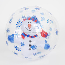 clear Snowflake decoration inflatable snowman ball