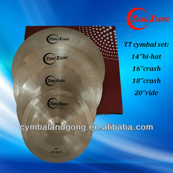 TT cymbal set:14hihat16crash18crash20ride pule cymbal