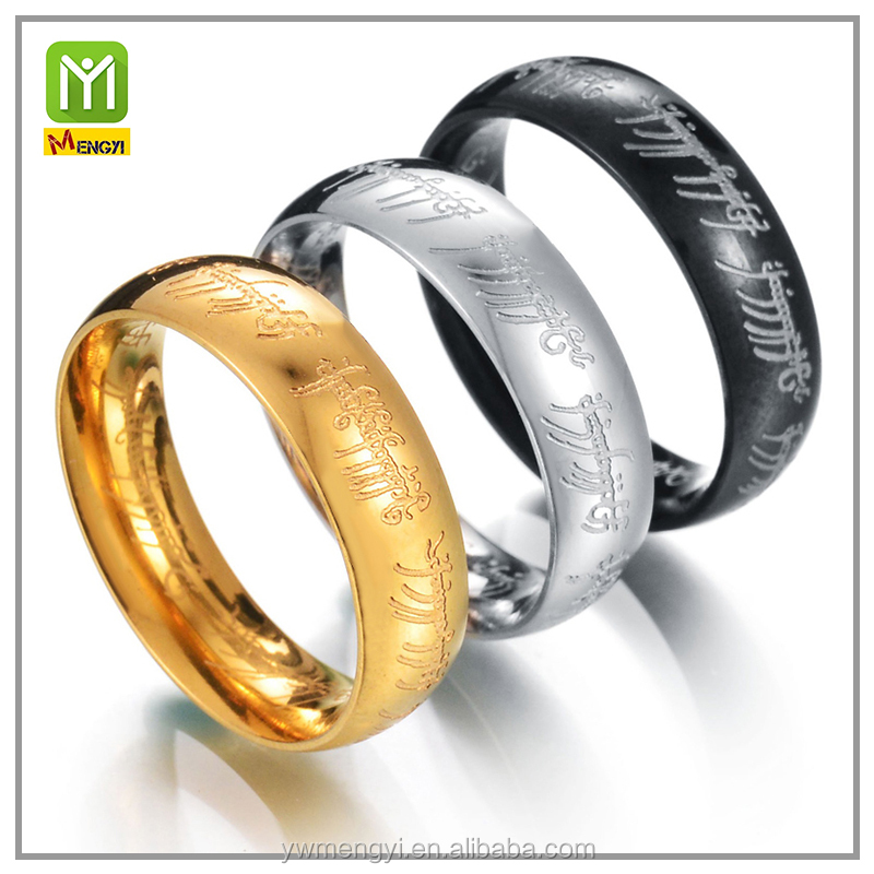 Fashion Jewelry 3D men's Gold WeddingTungsten Carbide Engagement Finger Ring
