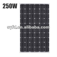 250W 36v monocrystalline cells Solar Panel TUV,ISO,CE,IEC approved