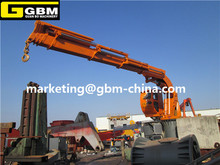 Telescopic boom marine folding crane