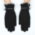 High-end short black winter plain style lined ladies rabbit fur on wrist touch screen gloves for iphone