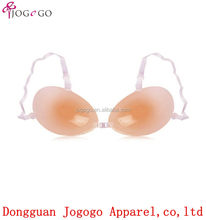 Tansparent bra strap wireless self adhesive silicone invisible bra for swimwear
