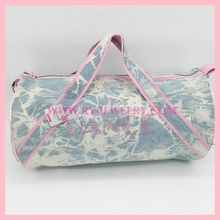 LARGE JEAN FABRIC STONE DANCE TRAVEL BAG LADY DUFFLE BAG