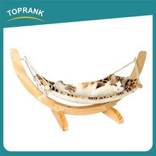 Cheap wholesale fancy wooden hanging swing pet cat hammock bed