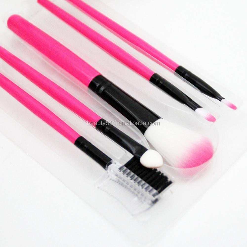 Wholesale 5pcs Professional Beauty Tools Synthetic Hair Makeup Brushes set