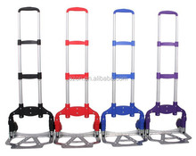 Portable foldable luggage hand trolley/Aluminum folding luggage hand trolley/Lightweight Foldable hand cart
