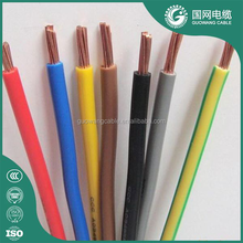 IEC standard BV 10mm2 single strand cable copper conductor PVC insulation electrical cable with coloful for building with HI-Q