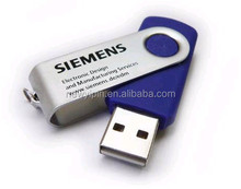 16GB Mini Pendant Metal USB Flash Memory Drive 2.0 Pen thumb Swivel