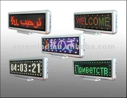 Indoor dot matrix vision electronic programmable led name badge