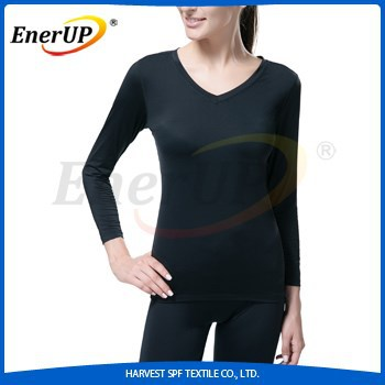 custom nylon spandex long sleeve compression women t-shirts