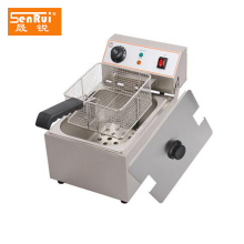 Mini home deep fryer single tank potato chips fryer machine with low price