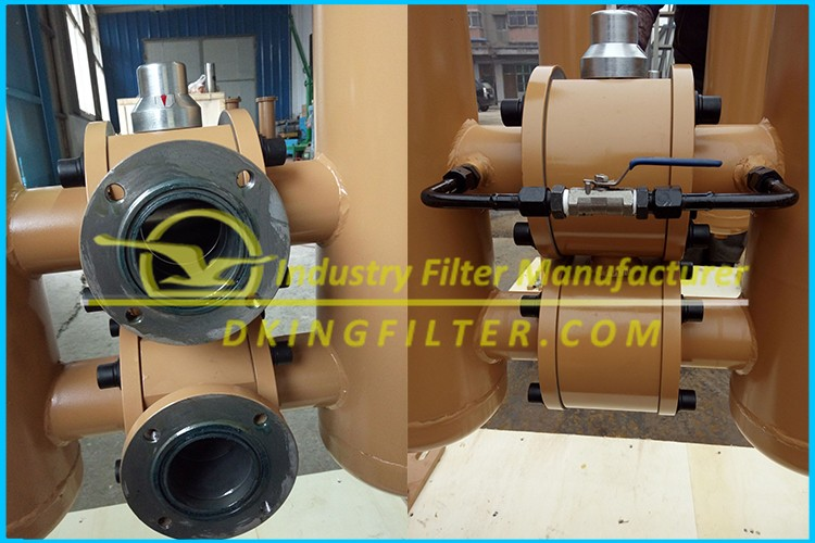 Good material with carton steel duplex oil filter strainer DN100