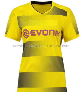 Wholesale club Home yellow soccer jersey woman Football shirts 2017 Sales
