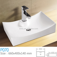Ceramic sanitary ware basin minin vessel sinks with stand