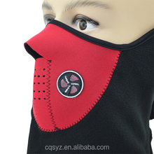 Wholsale used for bicycling red face mask