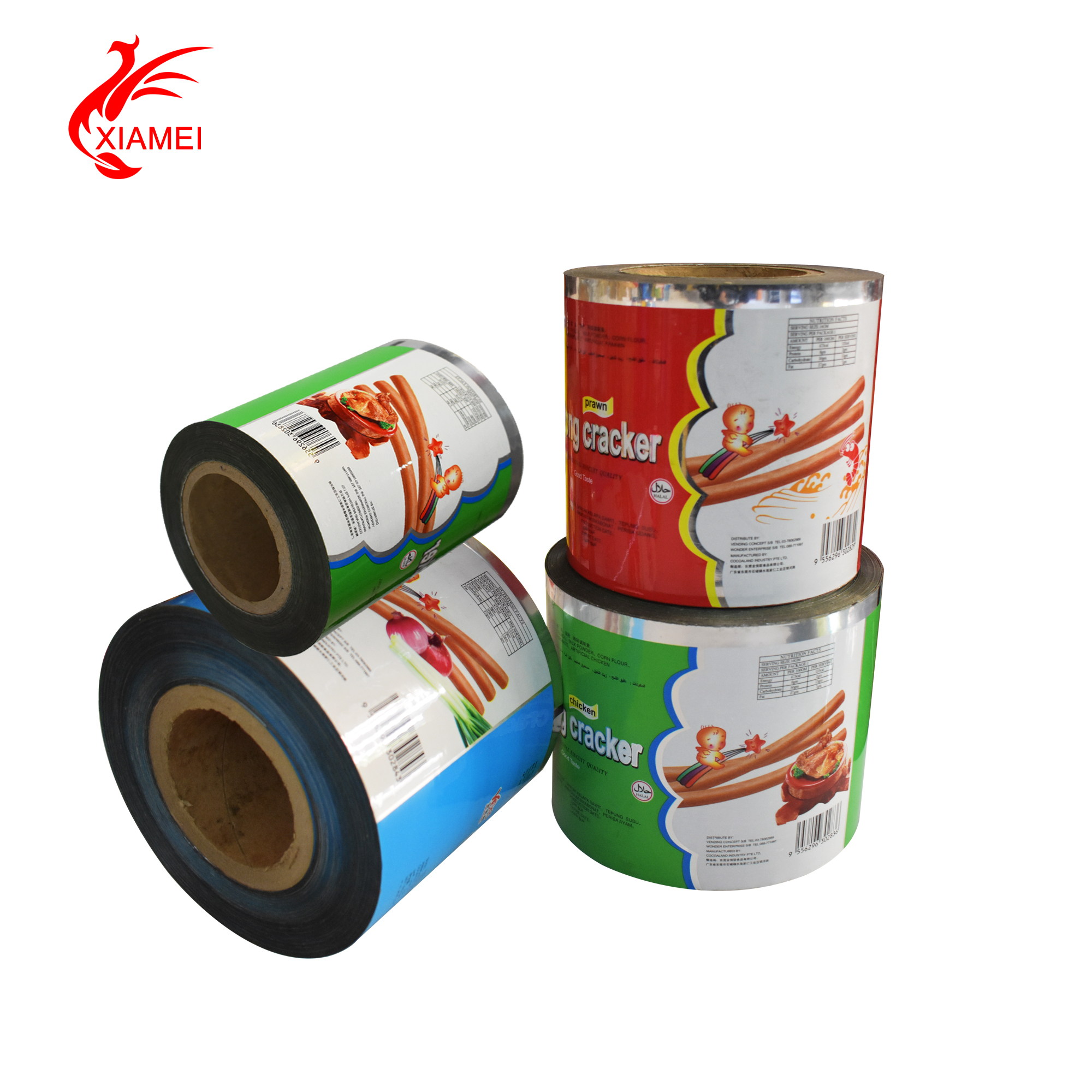 food grade cracker packaging laminating & printing auto packing film