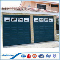 Modern Design Solid Wood Garage Door for Villas | Automatic garage sectional panel