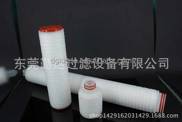 air and gas <strong>filtration</strong> 0.22um hydrophobic PTFE pleated filter cartridge