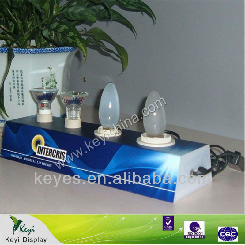 night light display stand light bulb display stand hot selling light bulb display stand