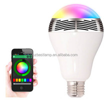 Hot Selling Round E27 Multicolors Dimmable 100-240V Ac Bluetooth Speaker Led Bulb For Residential Lighting