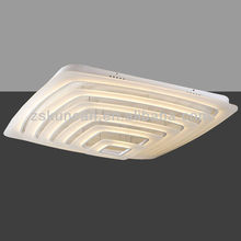 luxury square surface mounted decorative smd led ceiling lamp